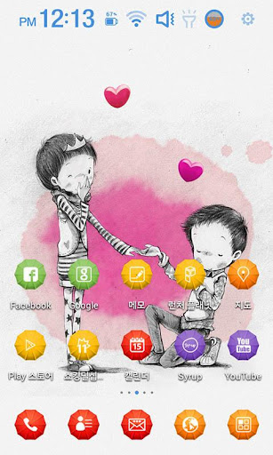 Falling in Love Launcher Theme