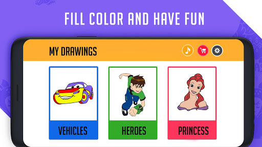 Coloring & Learning: Characters, Alphabets, Digits android2mod screenshots 2