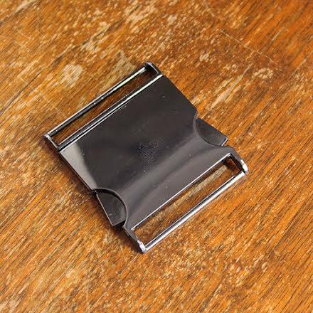 Metallspänne 40mm - svart