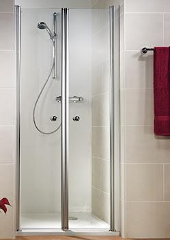 Portes de douche battantes en niche, jusqu'à 200 cm