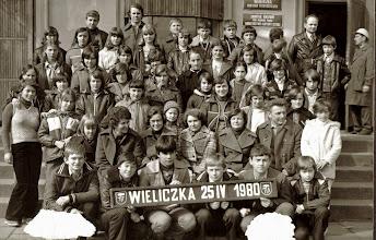 Photo: Wycieczka szkolna do Wieliczki.Rok 1980.