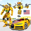 Bee Robot Car Transformation Game: Robot Car Games icon