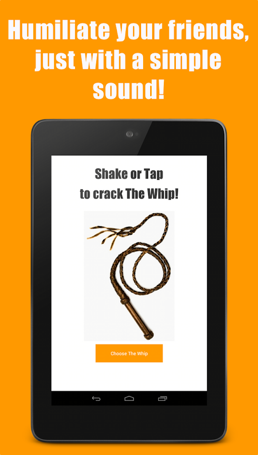 The Whip Sound App - screenshot