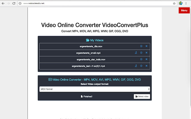 free online video converter mov to avi