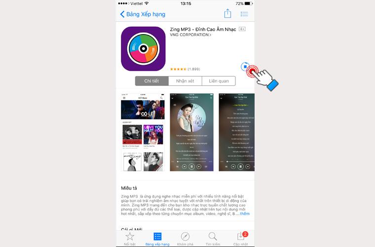 Bạn quay lại App Store và thử tải 1 ứng dụng miến phí xem. Như vậy là bạn đã hoàn thành việc tạo Apple ID rồi nhé.