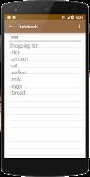 Screenshot of Notebook