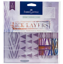Faber Castell Ice Layers Adhesive Textures 6.5X9.75 - Tribal UTGÅENDE