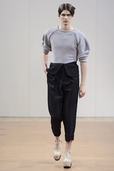 Photo: LOOK TWENTY SEVEN J.W.ANDERSON AW 2014 MENS SHOW http://www.j-w-anderson.com/1/fall-2014/collection.html
