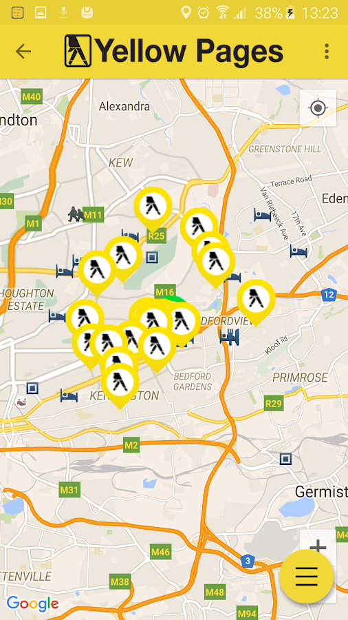 Yellow Pages SA - Maps, GPS...- screenshot