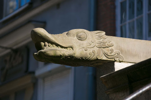 Old-Gdansk-dragon-carving.jpg - A dragon carving on a historic street in Old Gdansk, Poland.