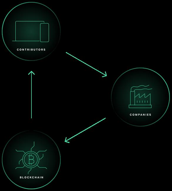 illustration de 3 types d'acteurs positionnés sur la plateforme Efforce