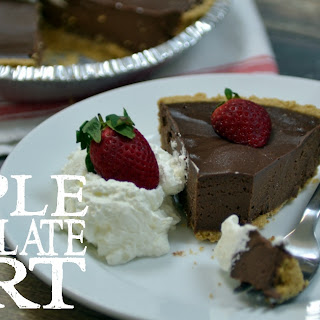 Simple Chocolate Tart.