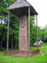 Photo: The largest stela atQuiriguá