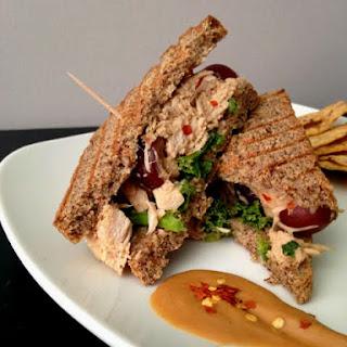 Gluten Free Satay Chicken Salad Sandwich