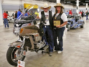 Photo: We won 1st in GL 1200 2 wheel stock class at Wing Ding in SC.  Pic  taken by Andrea.