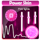 Pink lights Poweramp Skin