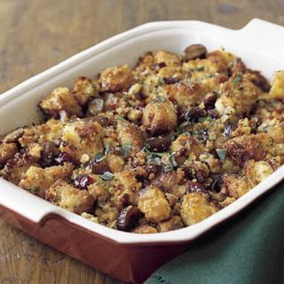 Corn Bread Dressing with Chestnuts