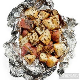 Potato, Garlic and Rosemary Packets