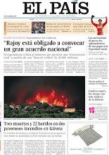"""Photo: Felipe González: """"Rajoy está obligado a convocar un gran acuerdo nacional"""", tres muertos y 22 heridos en dos pavorosos incendios en Girona, las autonomías disparan los aplazamientos de sus pagos a la Seguridad Social y Londres espera los Juegos con más mujeres de la historia, entre los temas de nuestra portada del 23 de julio de 2012. http://srv00.epimg.net/pdf/elpais/1aPagina/2012/07/ep-20120723.pdf"""