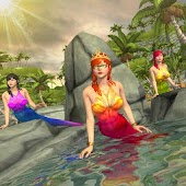 Mermaids ocean swimming race simulator