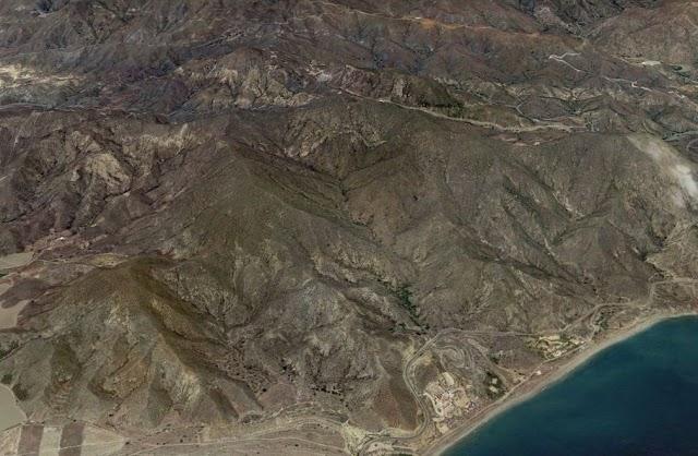 Imagen en Google Earth de Cerro Gallardo, en Carboneras.