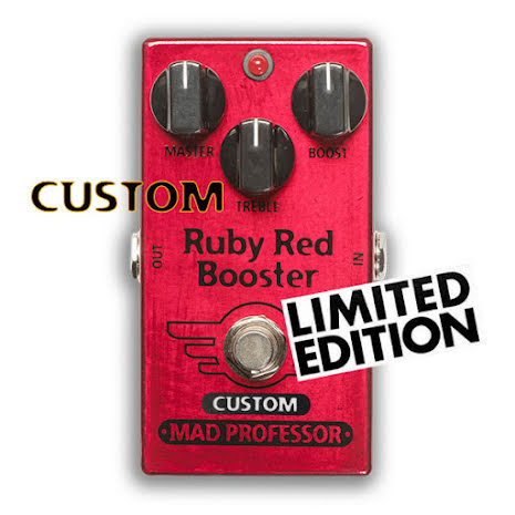 Mad Professor Nashville Hot Mids Solo Boost modded Ruby Red Booster