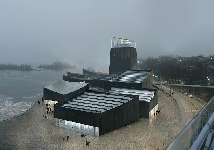 Rendering of the proposed Guggenheim Helsinki by French architects Moreau Kusunoki