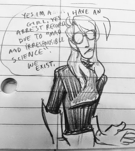 Yes X is a girl, yes X has an arrest record for irresponsible science