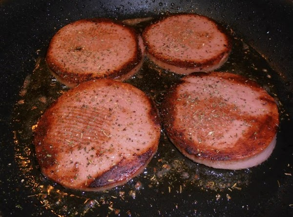 in the same skillet, add bologna, sprinkle with italian seasoning fry until golden brown,...