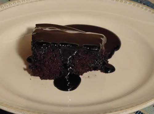 "Heaven's Own Hot Chocolate Cake ""I have died and gone to chocolate heaven,..."
