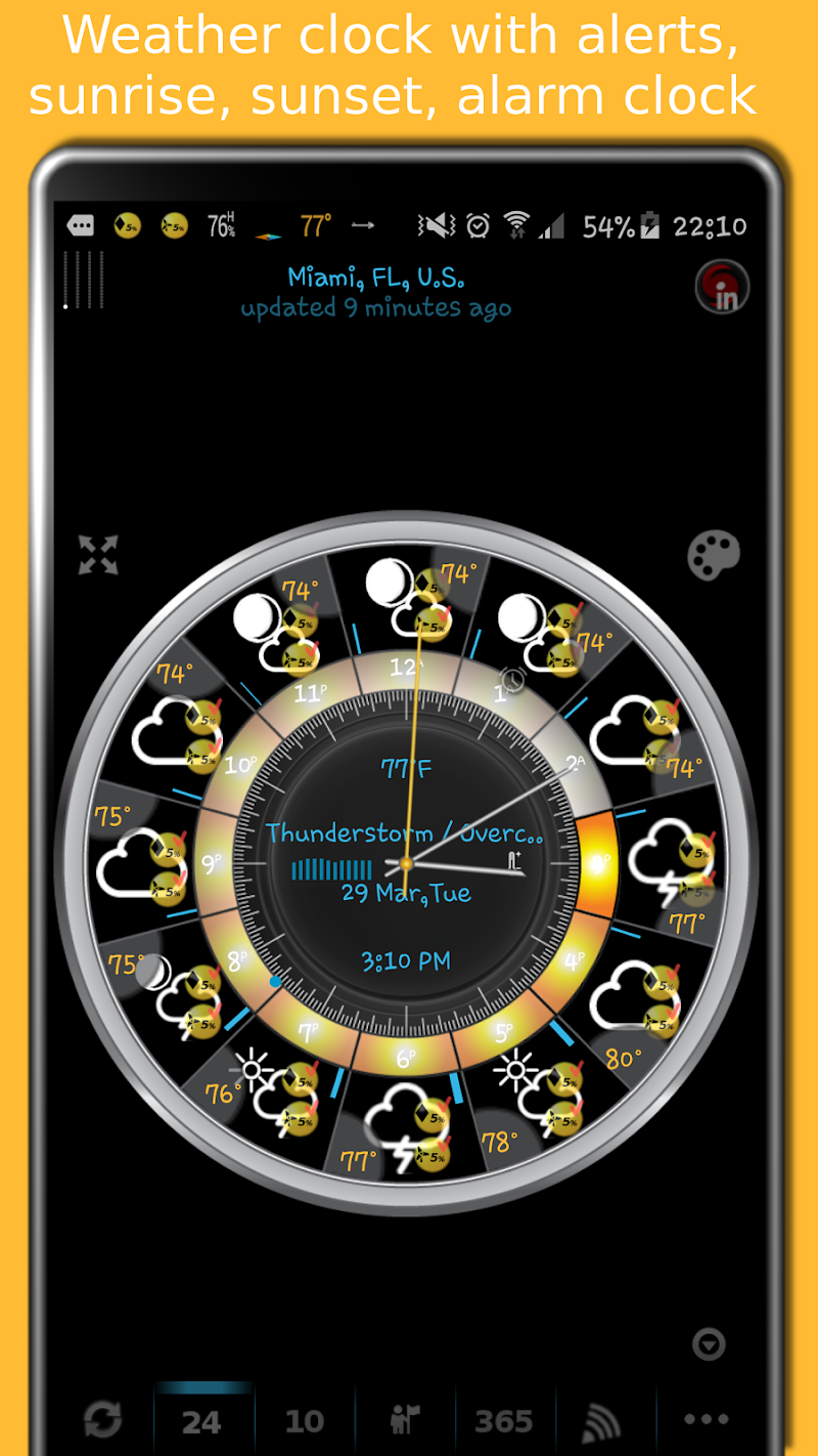 eWeather HD - weather, hurricanes, alerts, radar Screenshot 4