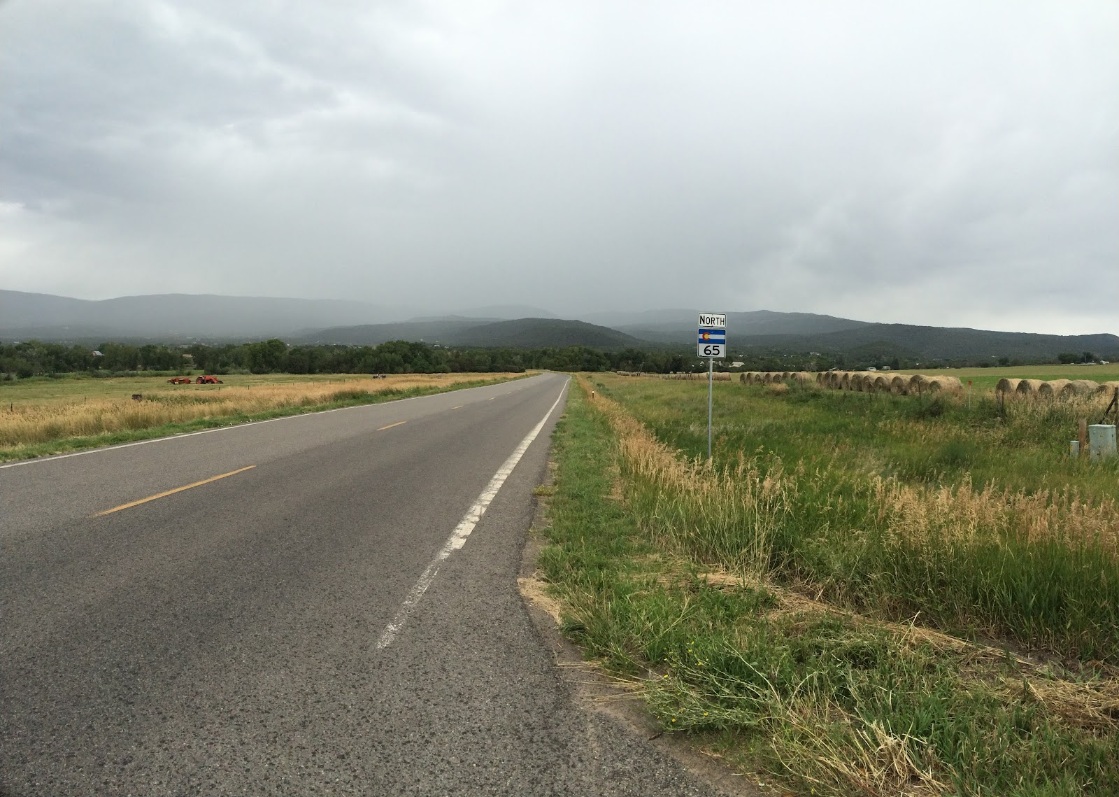 Cycling Grand Mesa South - scenic byway sign