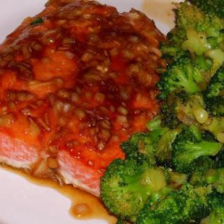Gingery Teriyaki Salmon With Stir-Fried Broccoli Florets