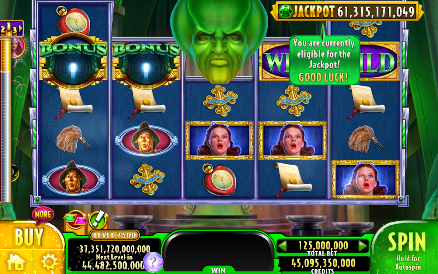 free casino games wizard of oz