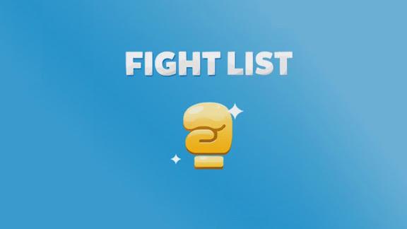 Soluzione Fight List: parole da scoprire divise per categorie