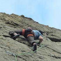 Fotos da escola de escalada de Cabo Prior (Ferrol).
