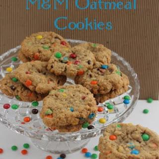 Mini M&M Oatmeal Cookies