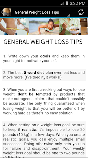 63 Simple Weight Loss Tips screenshot