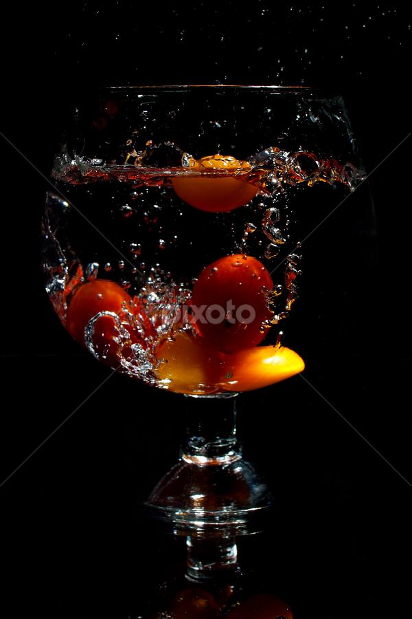 by WanUkay Perdana - Food & Drink Fruits & Vegetables ( lemon slice, tomato, sprite, glass, malaysia, strawberry )