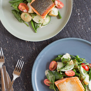 Pan-Fried Salmon and Spinach Salad