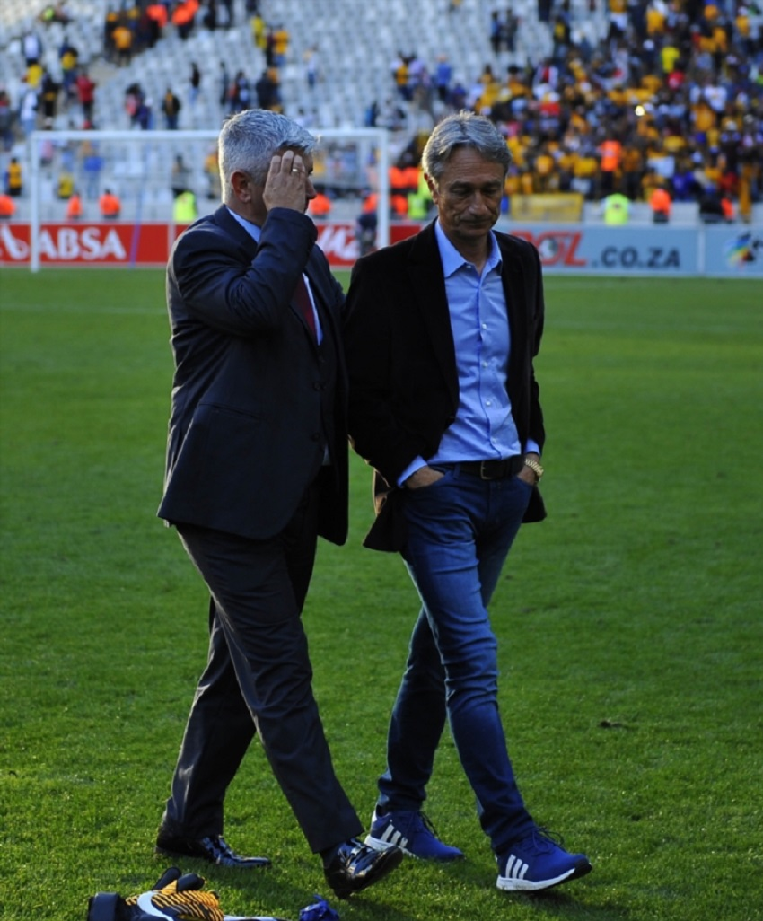 Muhsin Ertugral (Head Coach) of Ajax Cape Town after the Absa Premiership match between Ajax Cape Town and Kaizer Chiefs at Cape Town Stadium on May 12, 2018 in Cape Town, South Africa.