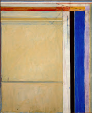 """Photo: Richard Diebenkorn""""Ocean Park #83""""1975oil on canvas100 1/2 x 81 1/2 inchesThe Corcoran Gallery of Art, Washington DCMuseum Purchase, with the aid of funds from the National Endowment for the Arts, the William A. Clark Fund and Mary M. Hitchcock1975.30"""