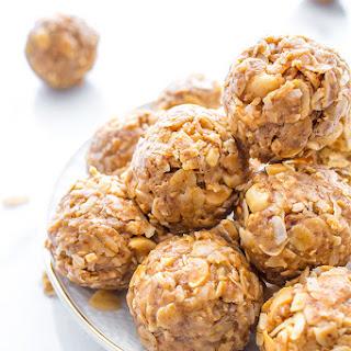 No Bake Peanut Butter Coconut Bites - Vegan, Gluten Free.