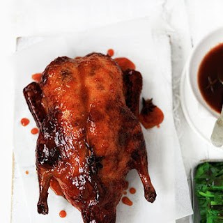 Roast Duck with Spicy Orange Glaze.