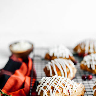 Cranberry and White Chocolate Chip Gingerbread Scones.