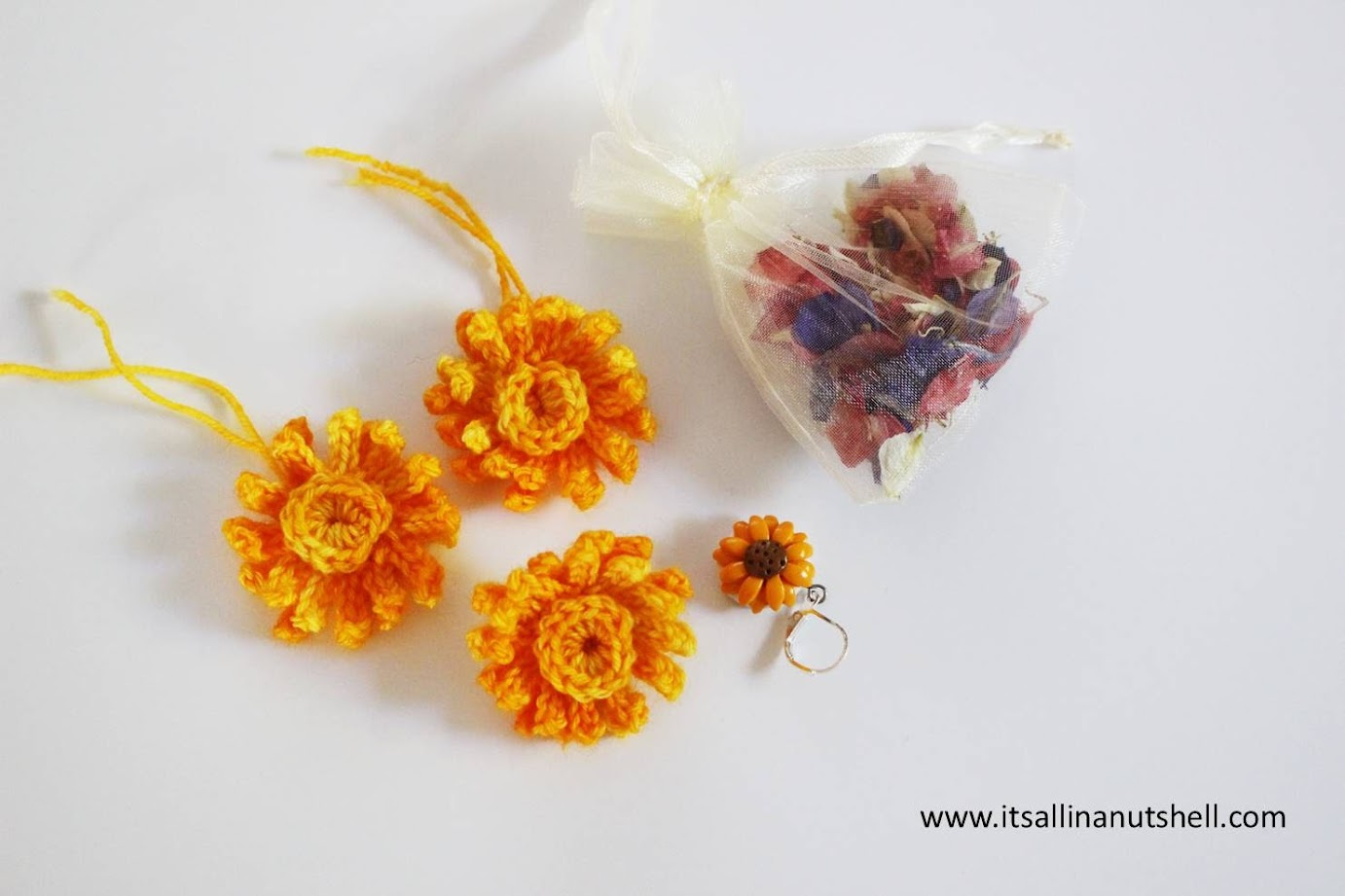 finished calendula flowers