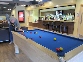Photo: Pool table in the student pub, Pearl Tree, St. John's Campus, University of Worcester