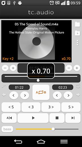 tc.audio (구간반복 속도조절 피치변경 조옮김) screenshot