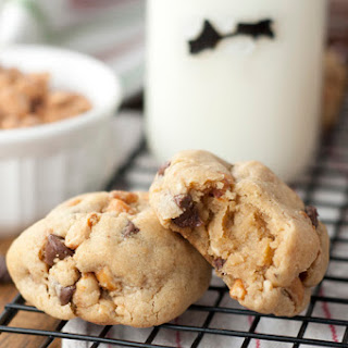 Thick and Chewy Chocolate Chip Peanut Butter Cookies
