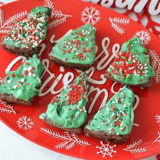 Christmas Tree Holiday Brownies